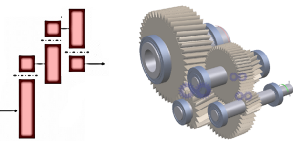 Fig. 4 – Helical gearbox (3-stage).