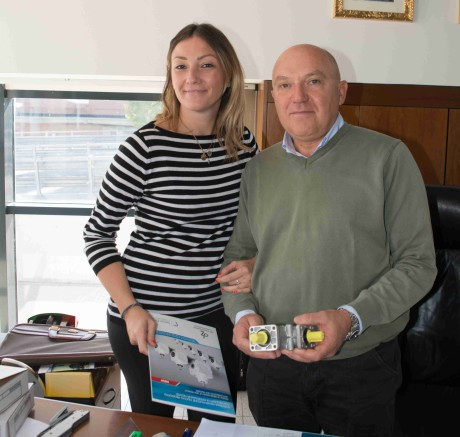 Claudio Pullega, founder and managing director of DZ Trasmissioni, with his daughter Elena, who works in the company, too.