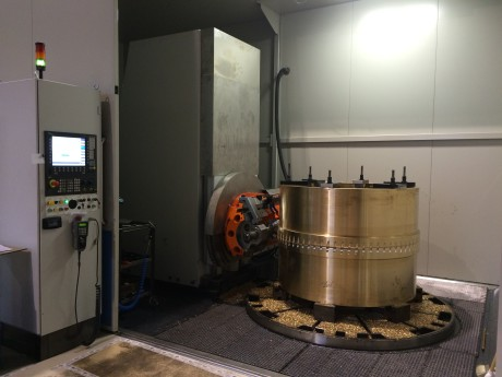 View of machining of eccentric wheel for M12 Z180 press;