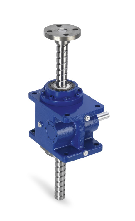 Servomech screw jack with re-circulating ball screw. Patented solution with translating ball screw.