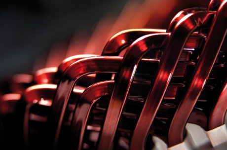 Details of stator hairpin for electric drive motor.