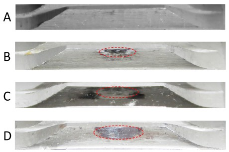 Figure 4: Spline coupling test article after tests A, B, C and D.