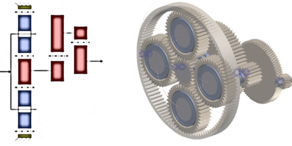 Fig. 5 – Planetary helical gearbox (3-stage).