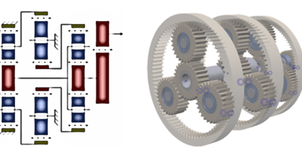 Fig. 8 – Extended planetary gearbox (4-stage).
