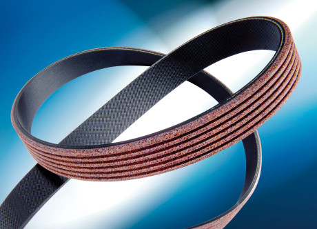 The textile layer protects ContiTech's Unipower Tough Grip V-ribbed belt from wear, even in dusty and sandy environments.