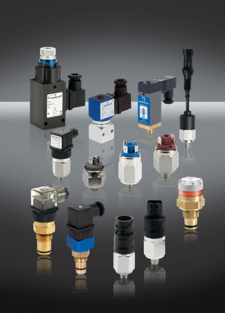 A selection of the pressure switch range.