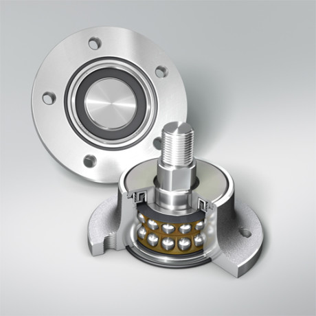 FigD Two crowned tapered roller bearings. (Courtesy photo: NSK)