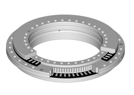 Fig. 2 - Section plane of precision radial-axial bearing for machine tools.