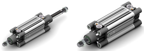 """Fig. 2 – Two cylinders of the """"Ecolight"""" series manufactured by Pneumax."""