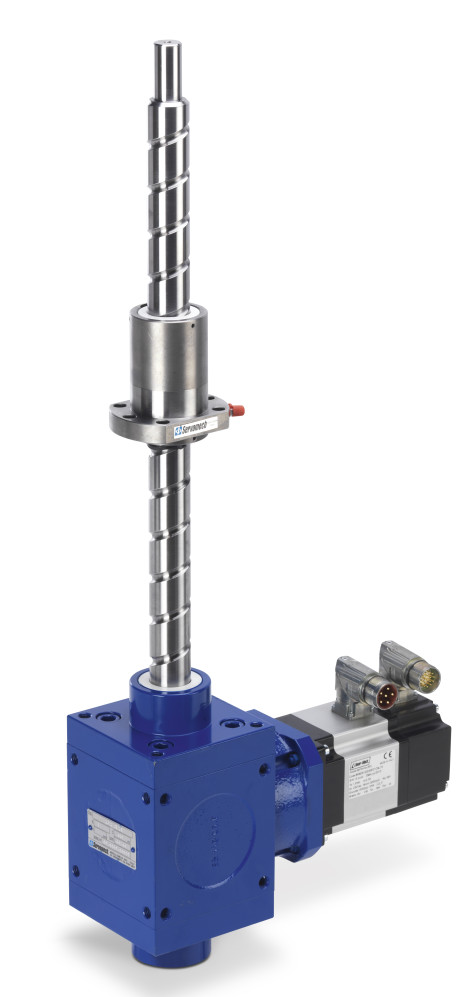 """The screw jack Servomech with re-circulating ball screw """"Series HS - High Speed"""", equipped with brushless servomotor."""