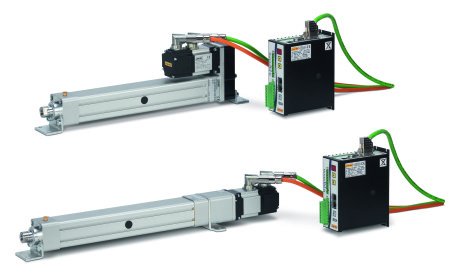 Linearmech electro-mechanical servo-actuators, the right alternative to pneumatic cylinders, In-Line and Parallel-Design configuration, 7 different sizes for a wide range of performances.