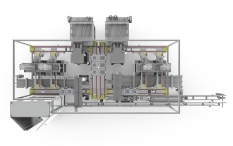 Dema is developing compact control machinery for the product test, to be positioned directly downstream the blanking press, which use contactless and mechanical controls.