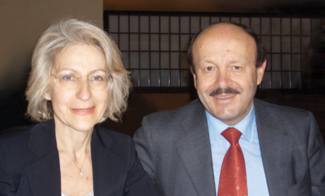 the founder and general manager Giuliano Bosi with his wife Nadia Grillo.