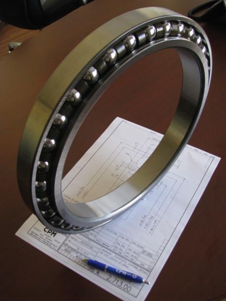 Angular contact ball bearing.