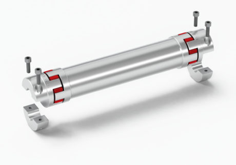 Backlash free spacer coupling in aluminium GAS/DBSE.