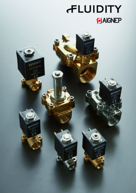 Solenoid valves of the Fluidity series.