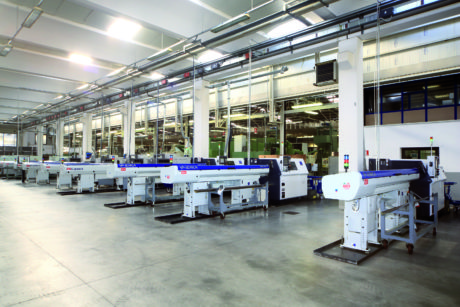 A line of the factory at Bione (Brescia, Italy), with highly automated productive lines.
