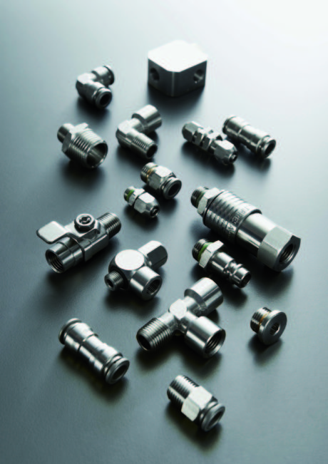 Ideal fittings for harsh environments, they can be washed with the most aggressive detergents.