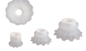 An extended range of flat vacuum cups